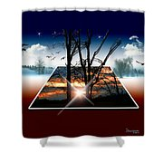 Into Another Dimension  Shower Curtain