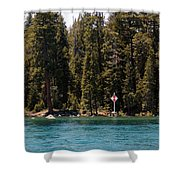Lake Tahoe Sugar Pine Point Light Shower Curtain