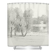 Landscape - Late 19th-early 20th Century Shower Curtain