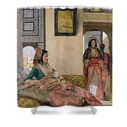 Life In The Harem - Cairo Shower Curtain by John Frederick Lewis