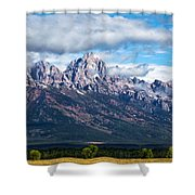 Light On The Grand Tetons Shower Curtain