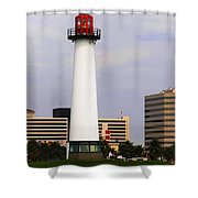 Lions Lighthouse For Sight Shower Curtain