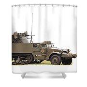 M16 Halftrack Shower Curtain