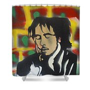 Marley Soul Guitar Shower Curtain