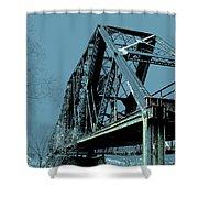 Mississippi River Rr Bridge At Memphis Shower Curtain