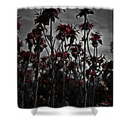 Mono Flowers Shower Curtain