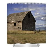Old Big Sky Barn Shower Curtain