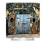 Old Wooden Doors Shower Curtain