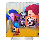 Pop Art Pop Up Shower Curtain