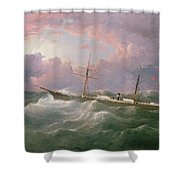 Portrait Of The Lsis A Steam And Sail Ship Shower Curtain