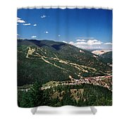 Red River In Summer Shower Curtain