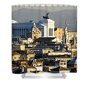 Rome's Rooftops Shower Curtain