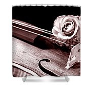 Rose Violin Viola Shower Curtain