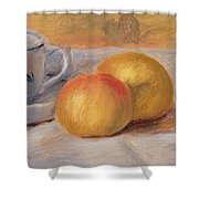 Still Life With Blue Cup Nature Morte A La Tasse Bleue Shower Curtain