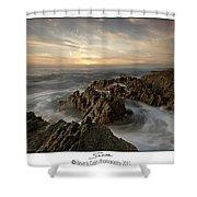 Subtle Sunset Shower Curtain