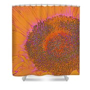 Sunflower In Orange And Pink Shower Curtain