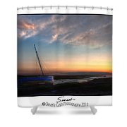 Sunset Down The River Shower Curtain