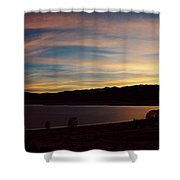 Sunset On Eagle Nest Lake Shower Curtain