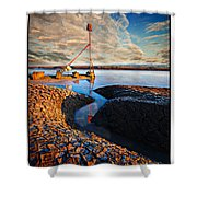 Sunset On The Marker Shower Curtain