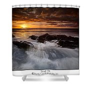 Sunset Tides Shower Curtain