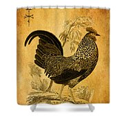 Thanksgiving Rooster Shower Curtain
