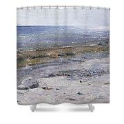 The Beach Mols Shower Curtain