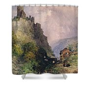 The Castle Of Katz On The Rhine Shower Curtain