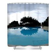 Tree At The Pool On Amalfi Coast Shower Curtain