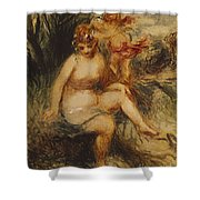 Venus And Love Allegory Shower Curtain