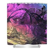 When The Night Comes Shower Curtain by Linda Sannuti
