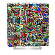 X 18 Talavera Fish Blessings Shower Curtain