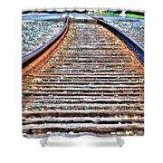 0002 Train Tracks Shower Curtain