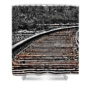0003 Train Tracks Shower Curtain