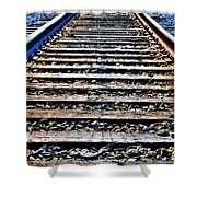 0004 Train Tracks  Shower Curtain