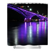 001 Peace Bridge Honoring Breast Cancer 2012 Series Shower Curtain