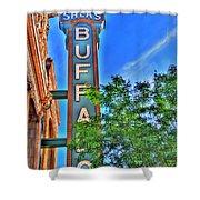 001 Sheas Buffalo Shower Curtain