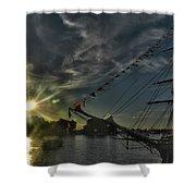 001 Uss Niagara 1813 Series Shower Curtain