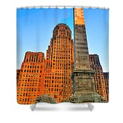 001 Wakening Architectural Dynamics  Shower Curtain