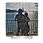 0017 The Lion And Lioness As One Shower Curtain