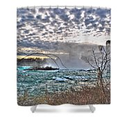 0018 View Of Horseshoe Falls From Terrapin Point Series Shower Curtain