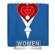 #0019 Women Shower Curtain