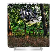 002 Bat Homes Shower Curtain