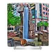002 Fountain Plaza Shower Curtain