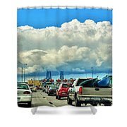 002 Grand Island Bridge Series  Shower Curtain