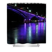 002 Peace Bridge Honoring Breast Cancer 2012 Series Shower Curtain