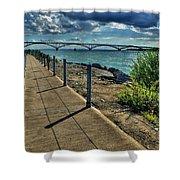 002 Peace Bridge Series II Beautiful Skies Shower Curtain