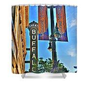 002 Sheas Buffalo Shower Curtain