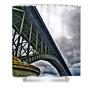 002 Stormy Skies Peace Bridge Series Shower Curtain