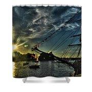 002 Uss Niagara 1813 Series  Shower Curtain