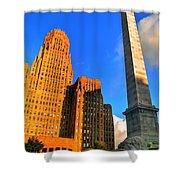 002 Wakening Architectural Dynamics Shower Curtain
